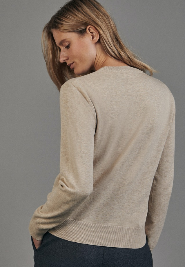 Crew Neck Pullover made of 100% Cotton in Brown |  Seidensticker Onlineshop