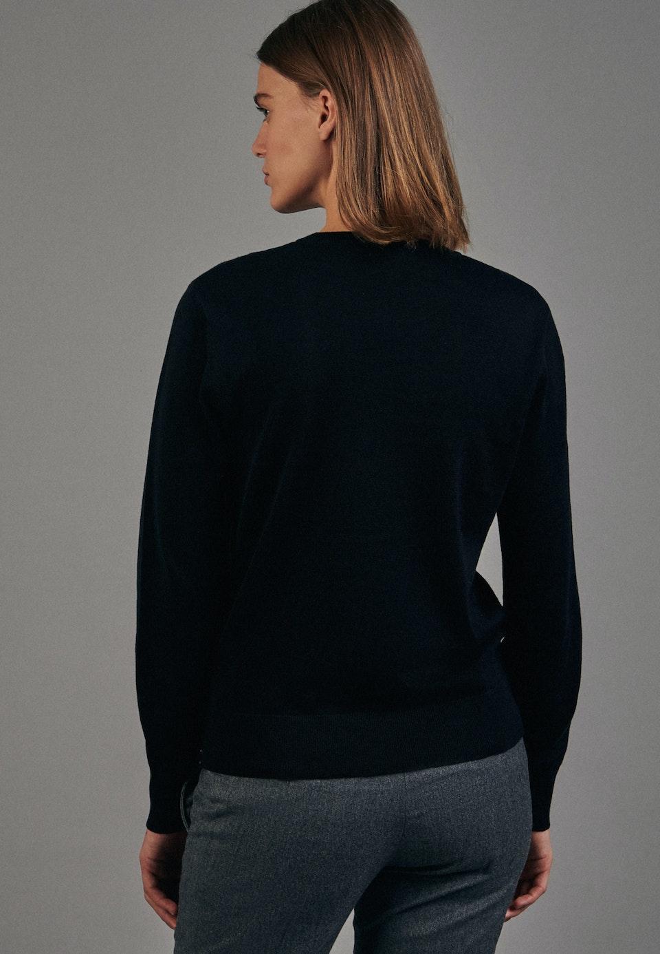 Crew Neck Pullover made of 100% Cotton in Black |  Seidensticker Onlineshop