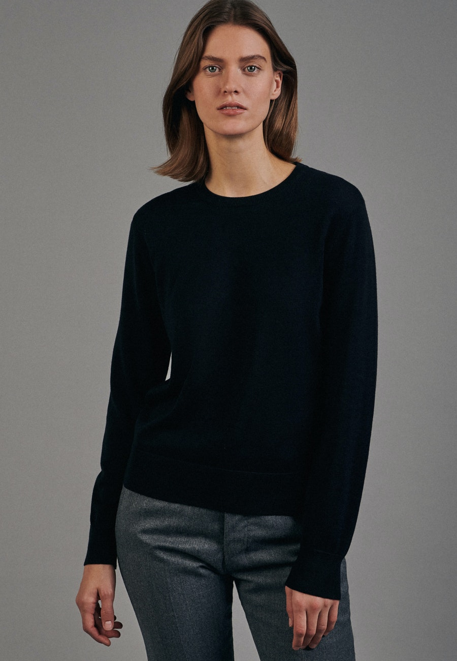 Crew Neck Pullover made of 100% Cotton in Black |  Seidensticker Onlineshop