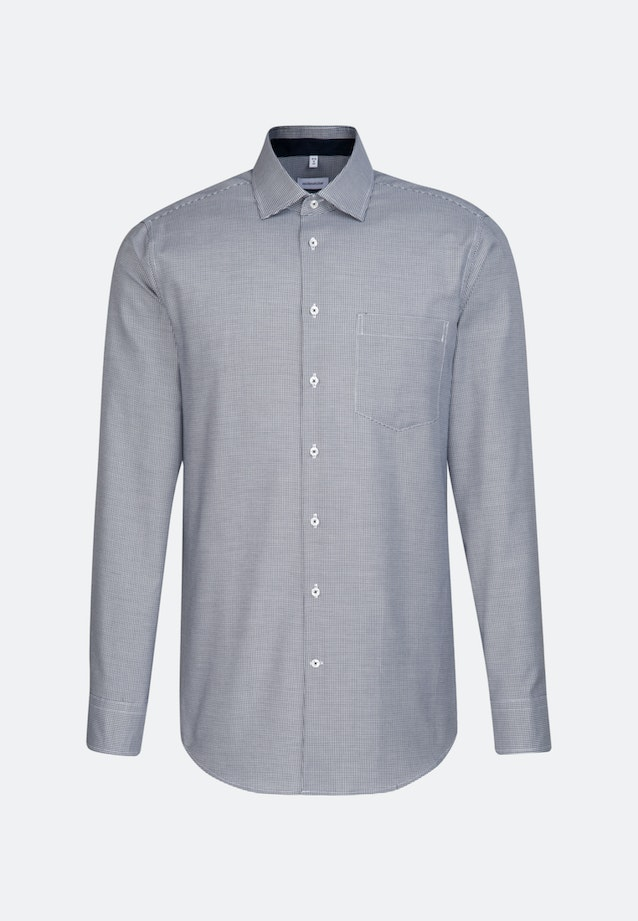 Non-iron Oxford Business Shirt in Regular with Kent-Collar in Dark blue |  Seidensticker Onlineshop