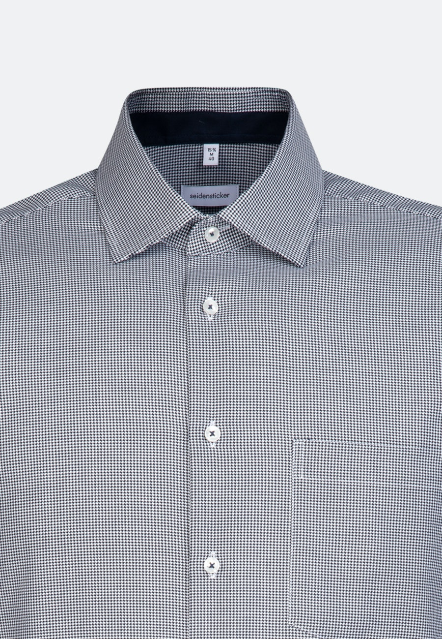 Bügelfreies Oxford Business Hemd in Regular mit Kentkragen in Dunkelblau    Seidensticker Onlineshop