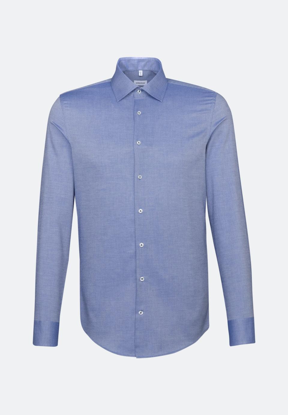 Non-iron Structure Business Shirt in X-Slim with Kent-Collar in Medium blue    Seidensticker Onlineshop