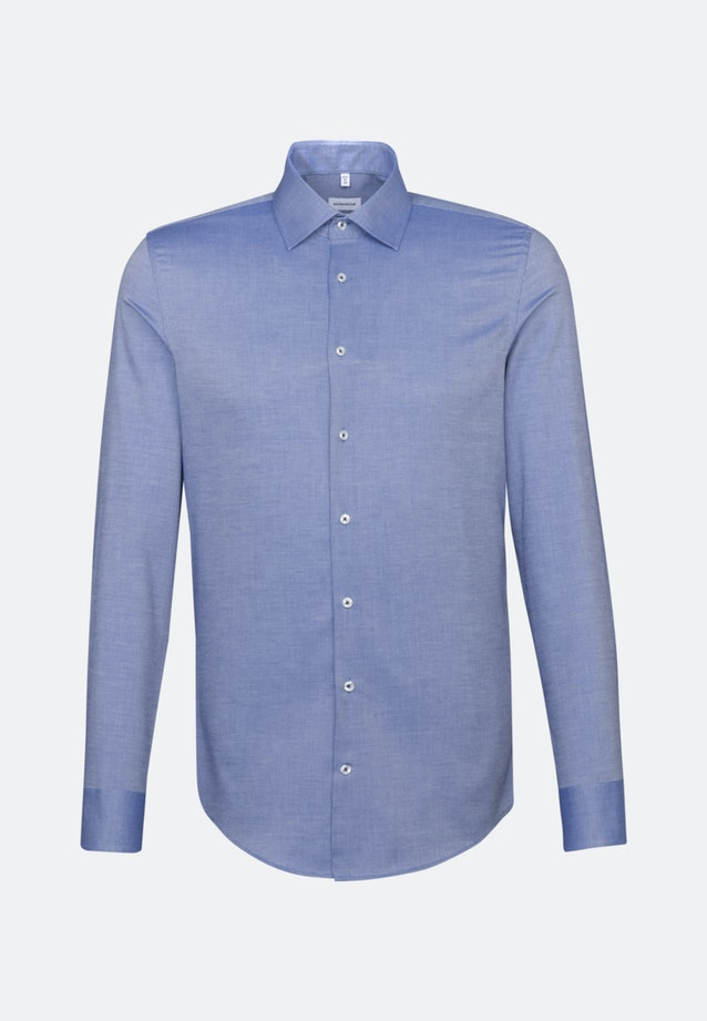 Non-iron Structure Business Shirt in X-Slim with Kent-Collar in Medium blue |  Seidensticker Onlineshop