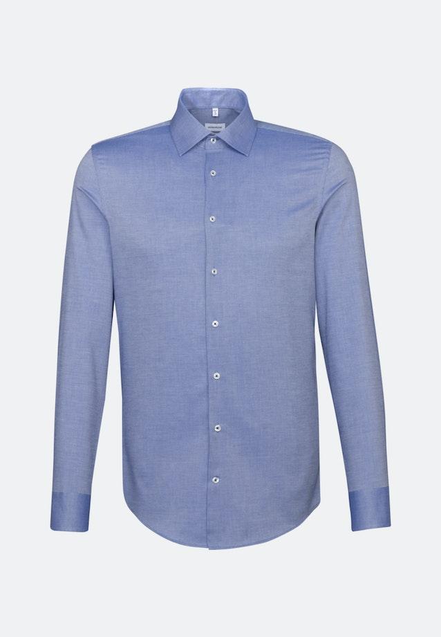 Non-iron Structure Business Shirt in X-Slim with Kent-Collar in Medium blue |  Seidensticker Onlineshop