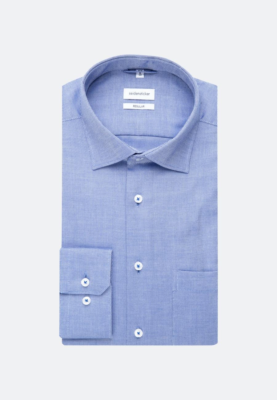 Non-iron Struktur Business Shirt in Regular with Kent-Collar in Medium blue |  Seidensticker Onlineshop