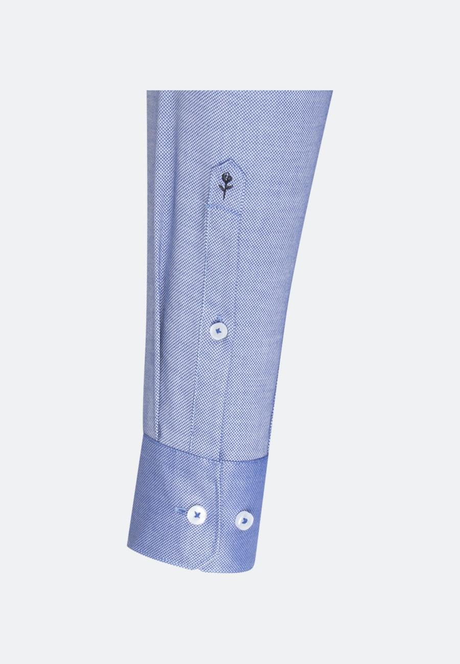 Bügelfreies Struktur Business Hemd in Regular mit Kentkragen in Mittelblau |  Seidensticker Onlineshop