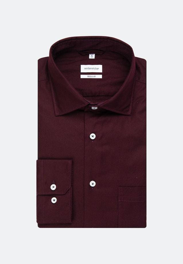 Twill Business Hemd in Regular mit Kentkragen in Rot    Seidensticker Onlineshop