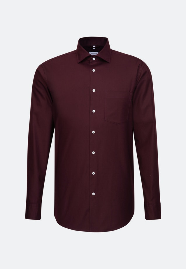 Twill Business Shirt in Regular with Kent-Collar in Red |  Seidensticker Onlineshop