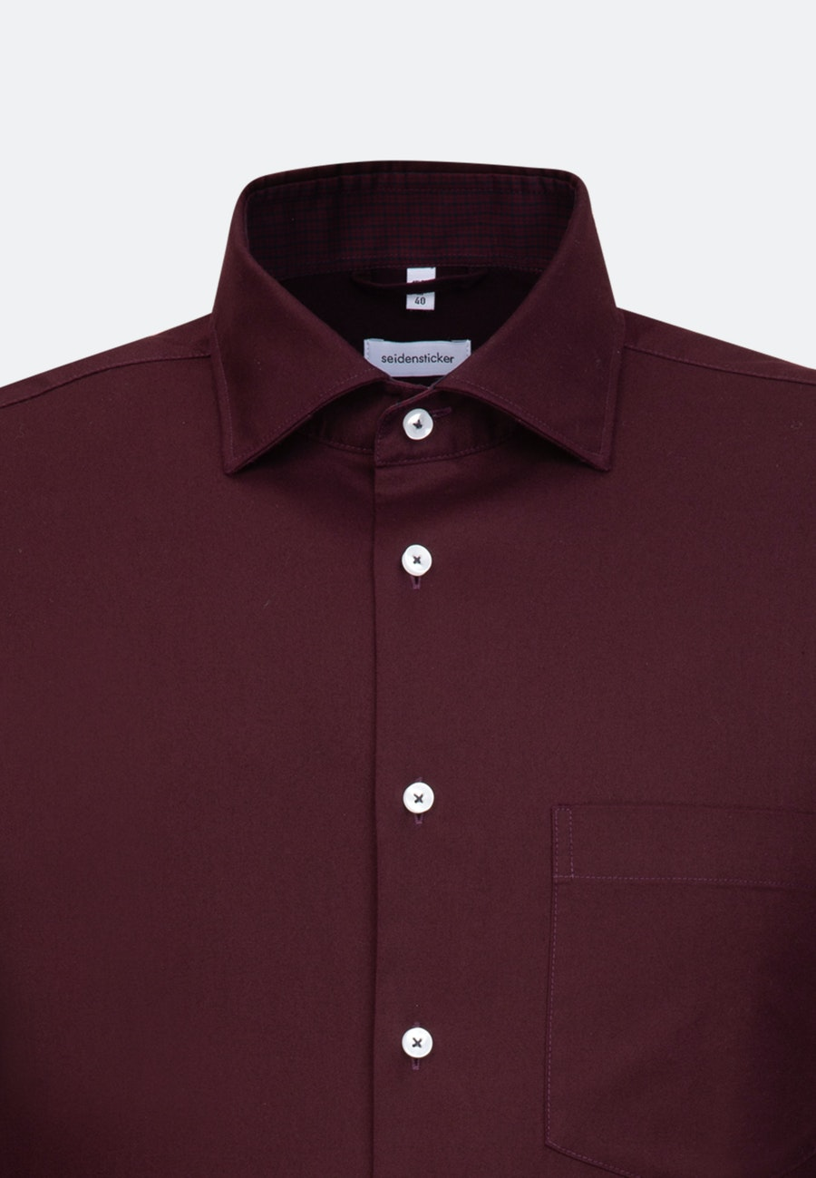 Twill Business Hemd in Regular mit Kentkragen in Rot |  Seidensticker Onlineshop