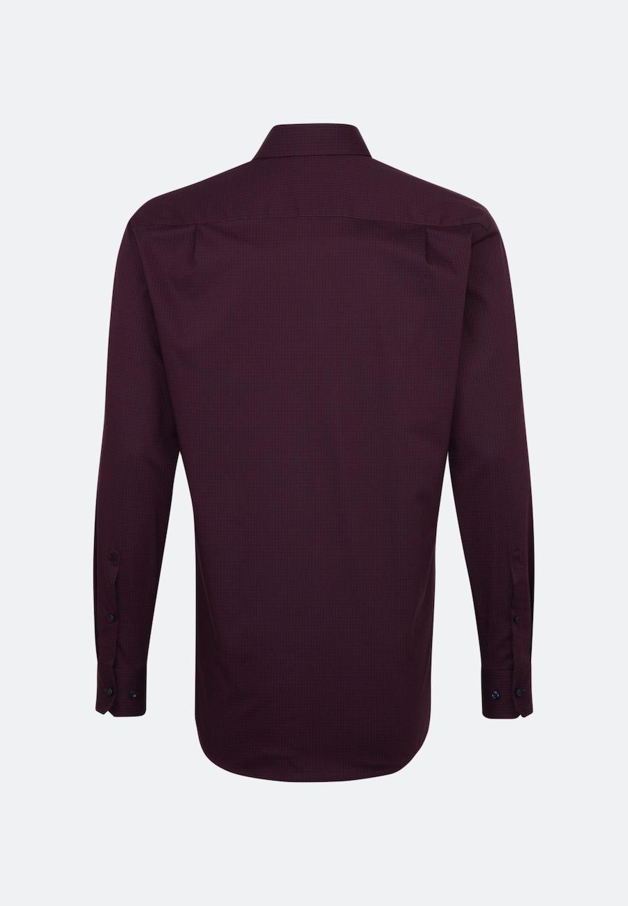 Bügelfreies Popeline Business Hemd in Regular mit Kentkragen in Rot    Seidensticker Onlineshop