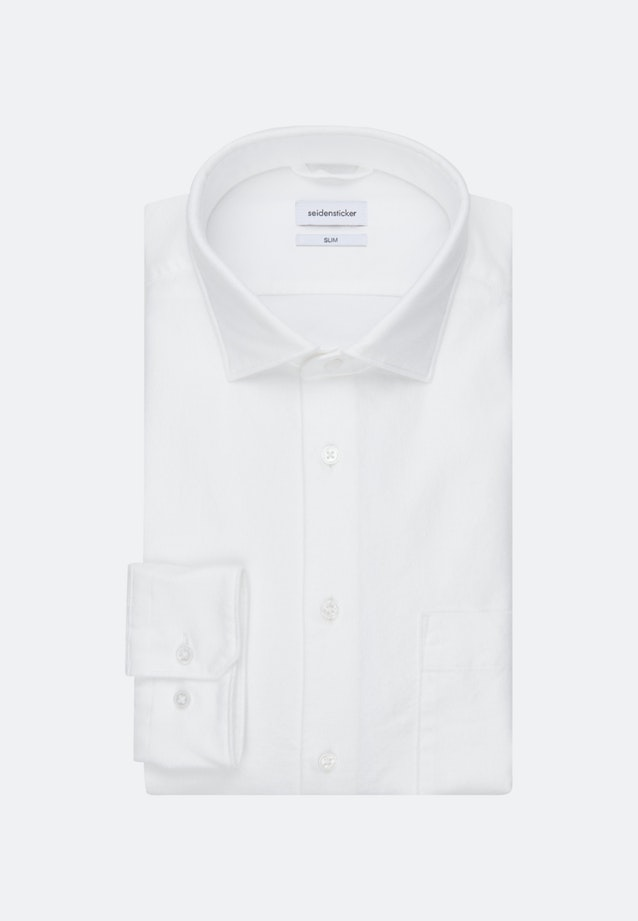 Oxford Business Shirt in Slim with Kent-Collar in White |  Seidensticker Onlineshop