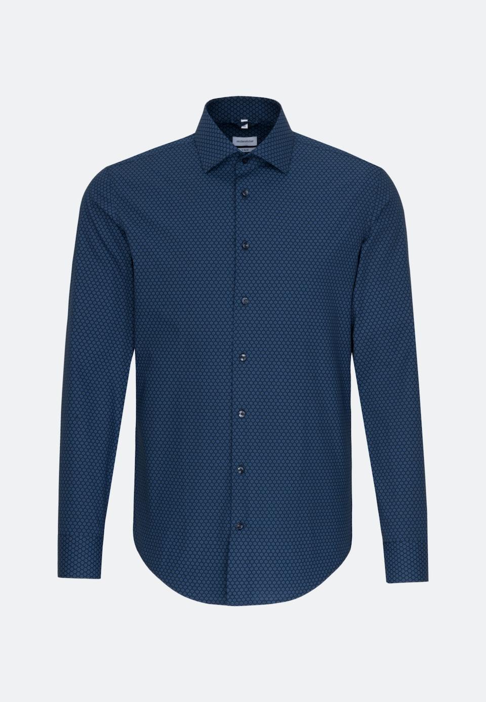 Bügelleichtes Popeline Business Hemd in X-Slim mit Kentkragen in Hellblau |  Seidensticker Onlineshop