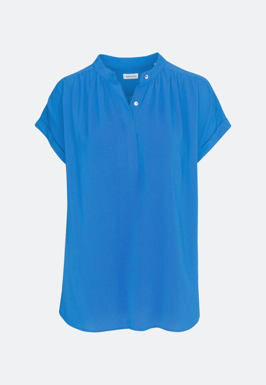 Sleeveless Krepp Slip Over Blouse made of 100% Viscose in Medium blue |  Seidensticker Onlineshop
