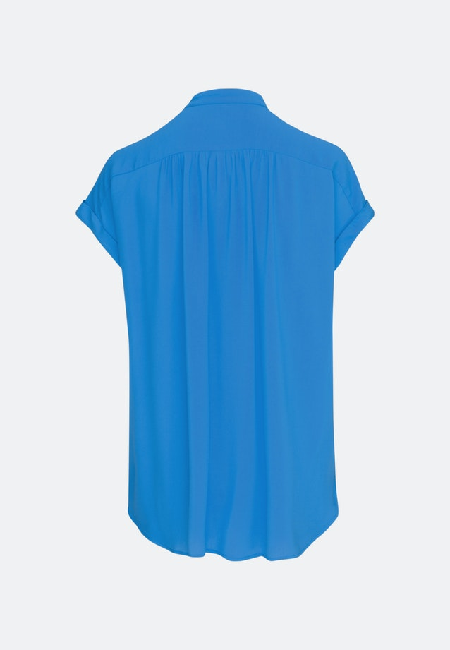 Sleeveless Krepp Slip Over Blouse made of 100% Viscose in Medium blue |  Seidensticker Onlineshop