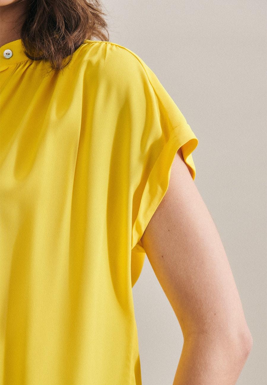 Ärmellose Krepp Schlupfbluse aus 100% Viskose in Gelb |  Seidensticker Onlineshop