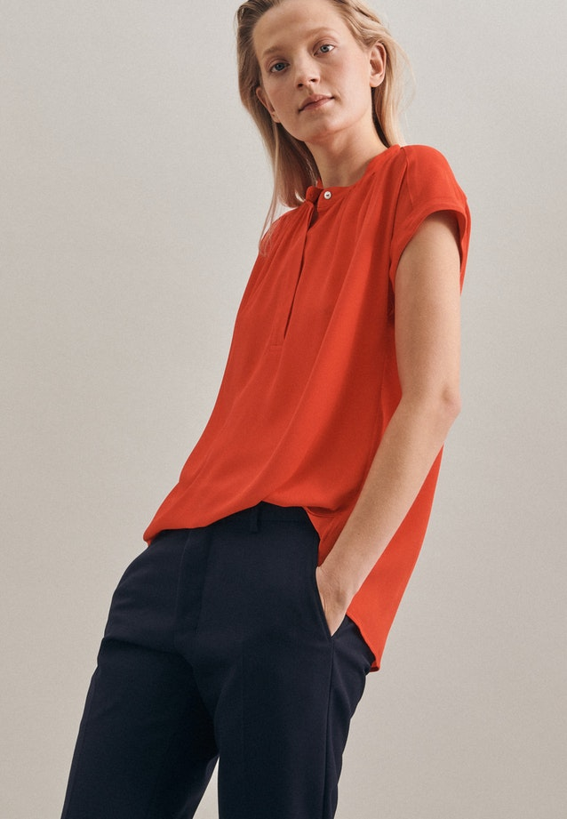Sleeveless Krepp Slip Over Blouse made of 100% Viscose in Red |  Seidensticker Onlineshop