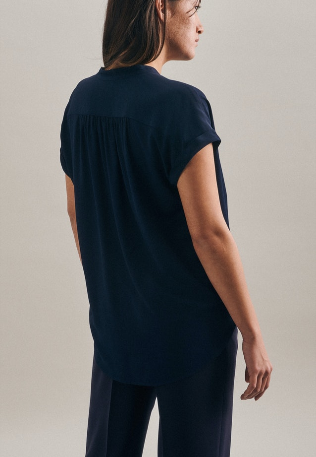 Sleeveless Krepp Slip Over Blouse made of 100% Viscose in Dark blue |  Seidensticker Onlineshop