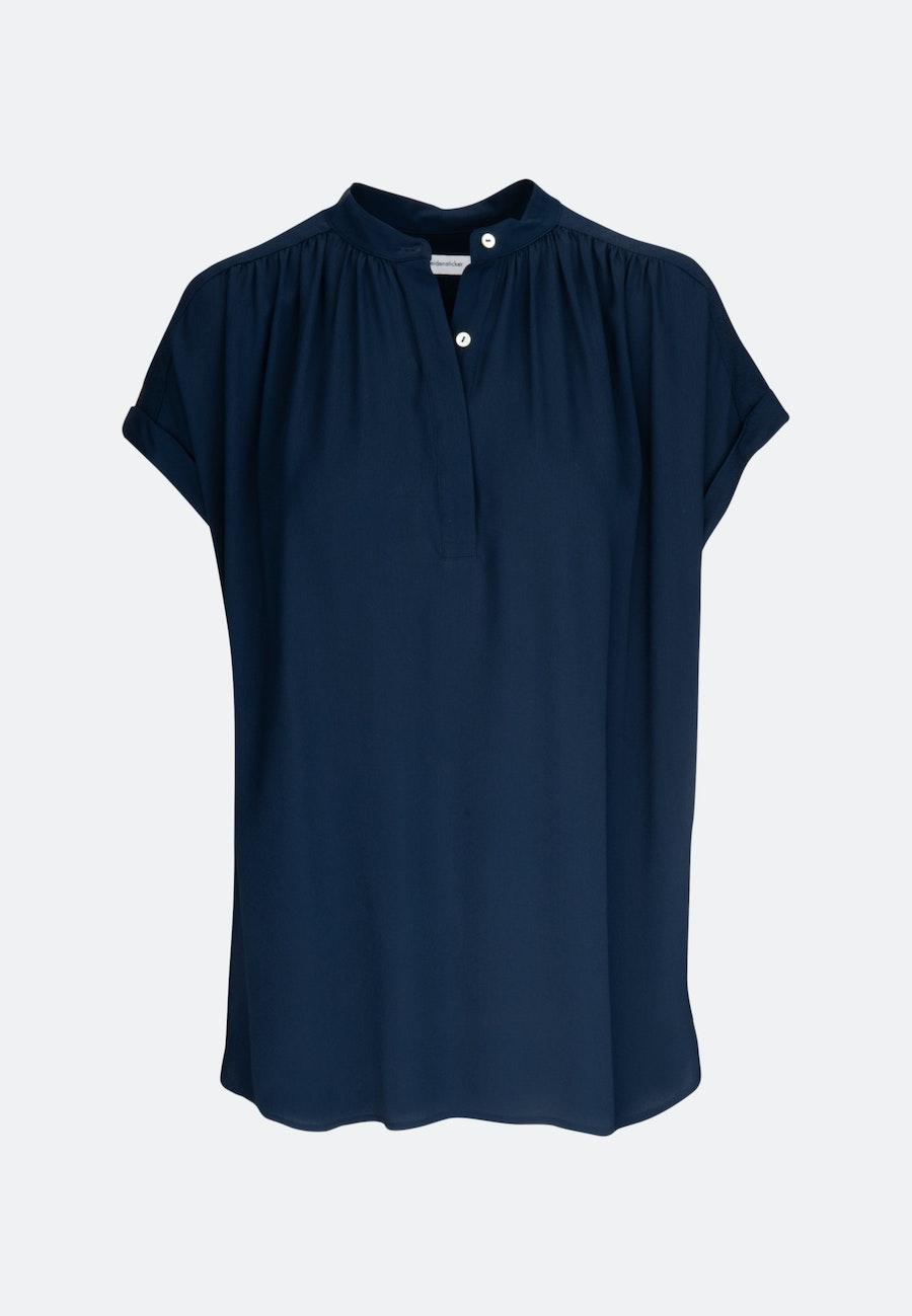Sleeveless Krepp Slip Over Blouse made of 100% Viscose in Dark blue    Seidensticker Onlineshop