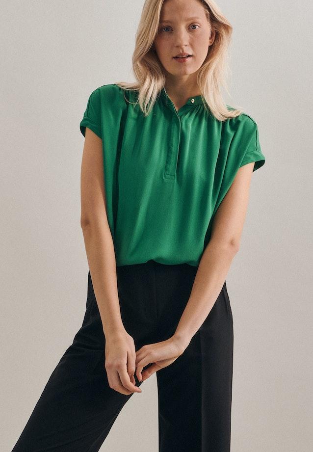 Sleeveless Krepp Slip Over Blouse made of 100% Viscose in Green |  Seidensticker Onlineshop