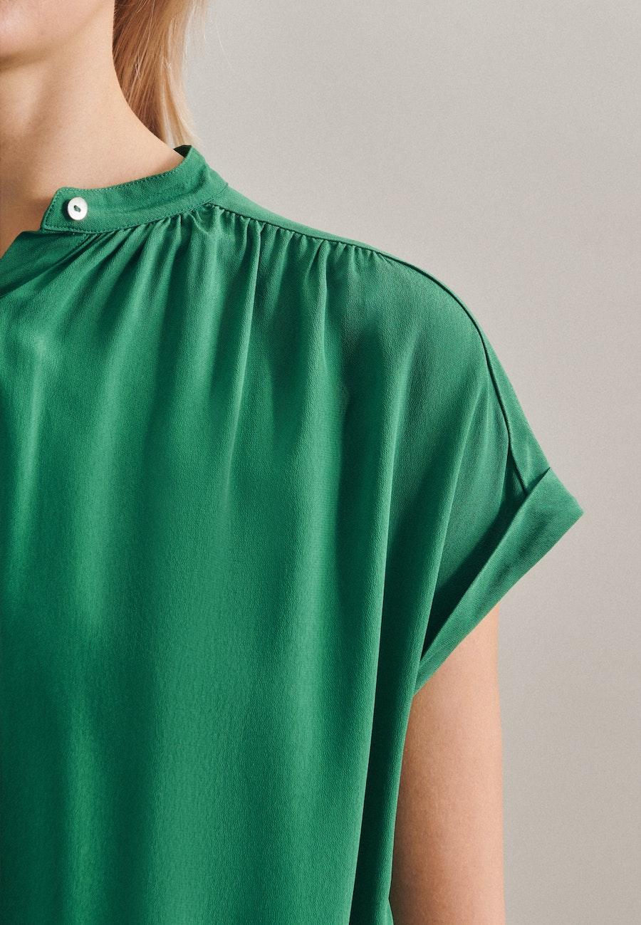 Ärmellose Krepp Schlupfbluse aus 100% Viskose in Grün |  Seidensticker Onlineshop