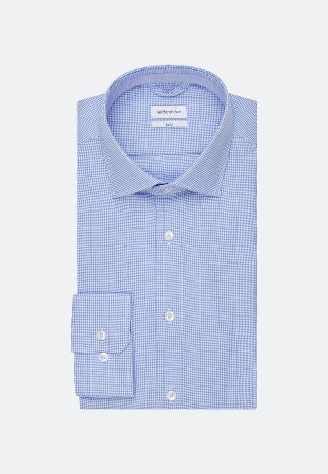 Bügelfreies Business Hemd in Slim mit Kentkragen in Hellblau |  Seidensticker Onlineshop
