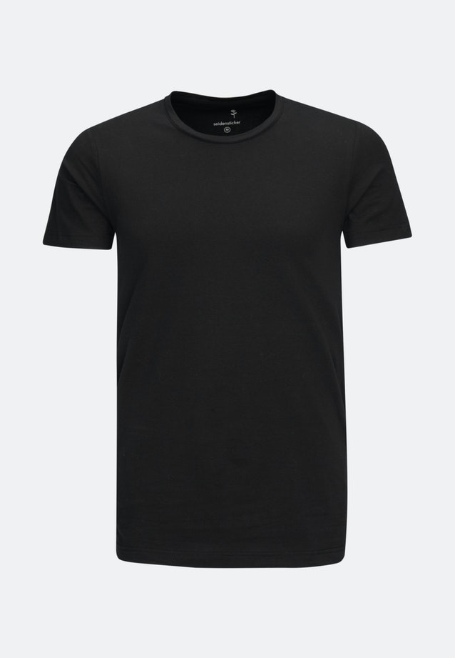 Crew Neck T-Shirt made of cotton blend in Black |  Seidensticker Onlineshop