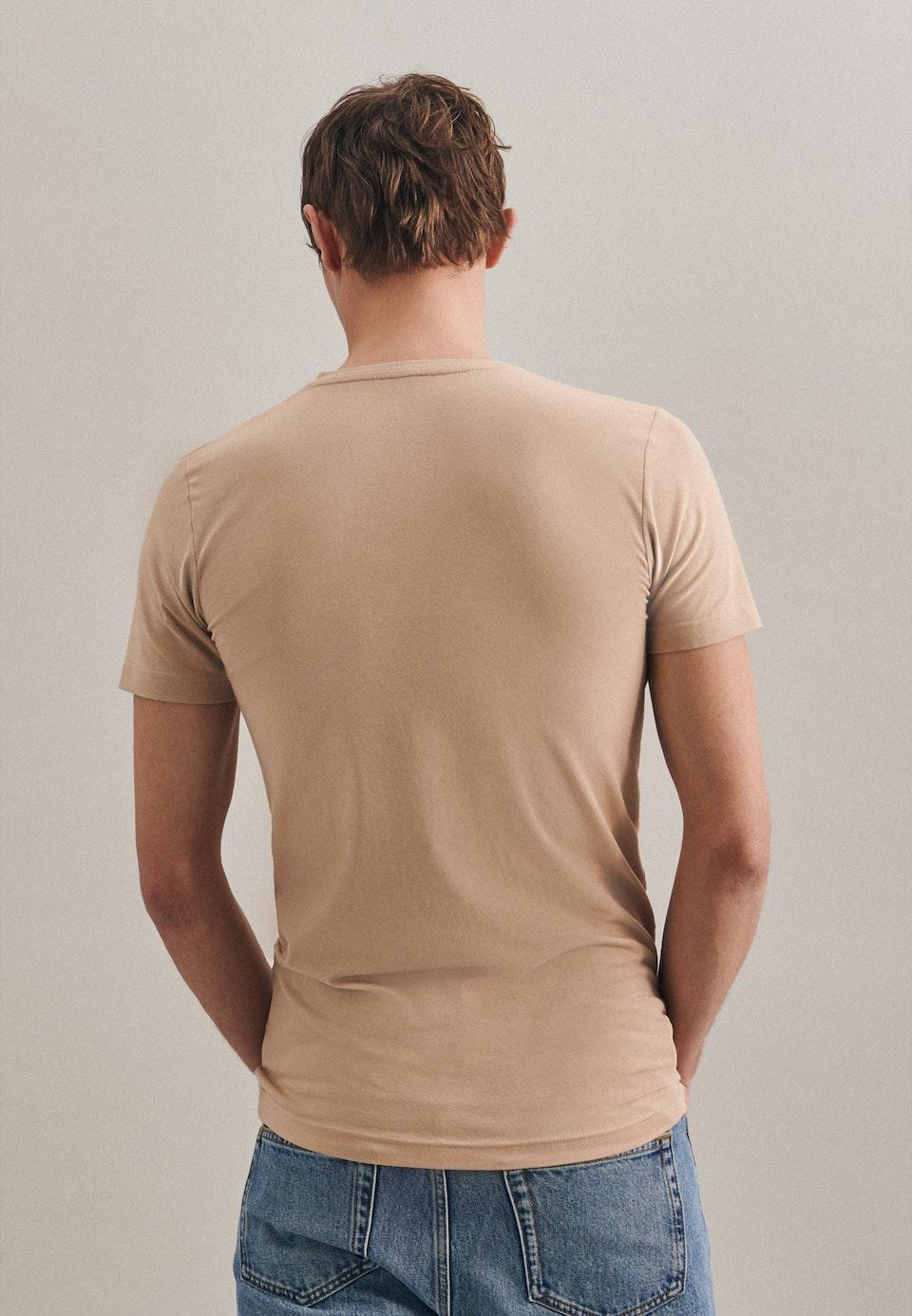 V-Neck T-Shirt made of cotton blend in Brown |  Seidensticker Onlineshop