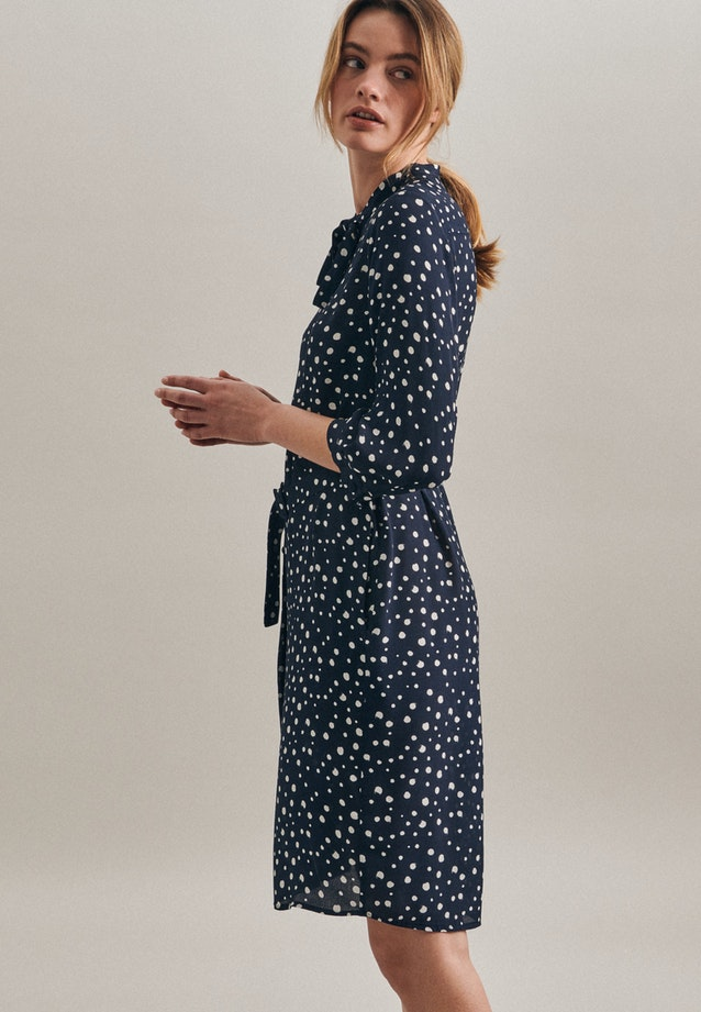 Krepp Midi Dress made of 100% Viscose in Dark blue |  Seidensticker Onlineshop