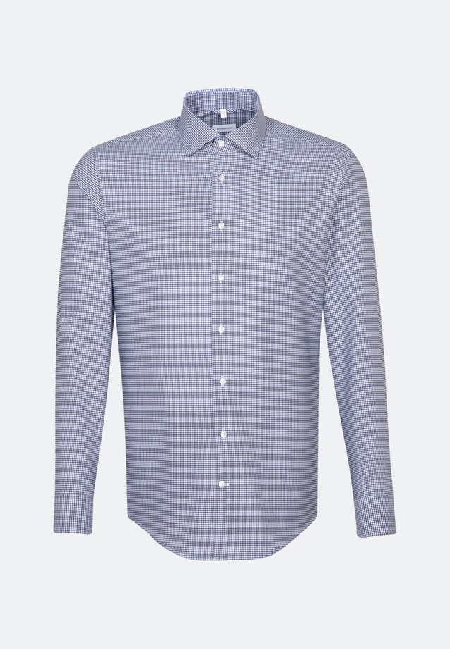 Bügelleichtes Business Hemd in Slim mit Kentkragen in Mittelblau |  Seidensticker Onlineshop