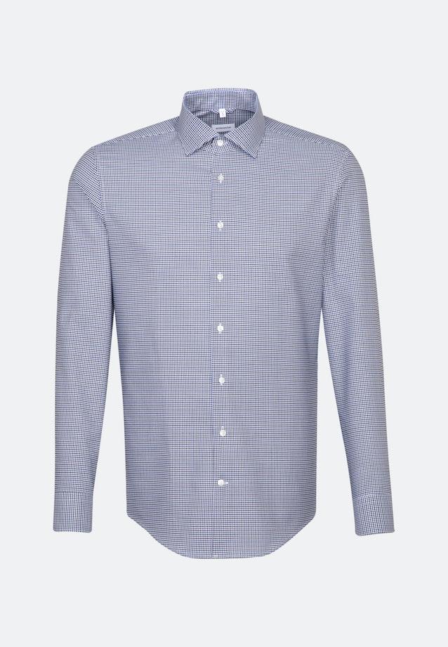 Easy-iron Dobby Twill Business Shirt in Slim with Kent-Collar in Medium blue |  Seidensticker Onlineshop