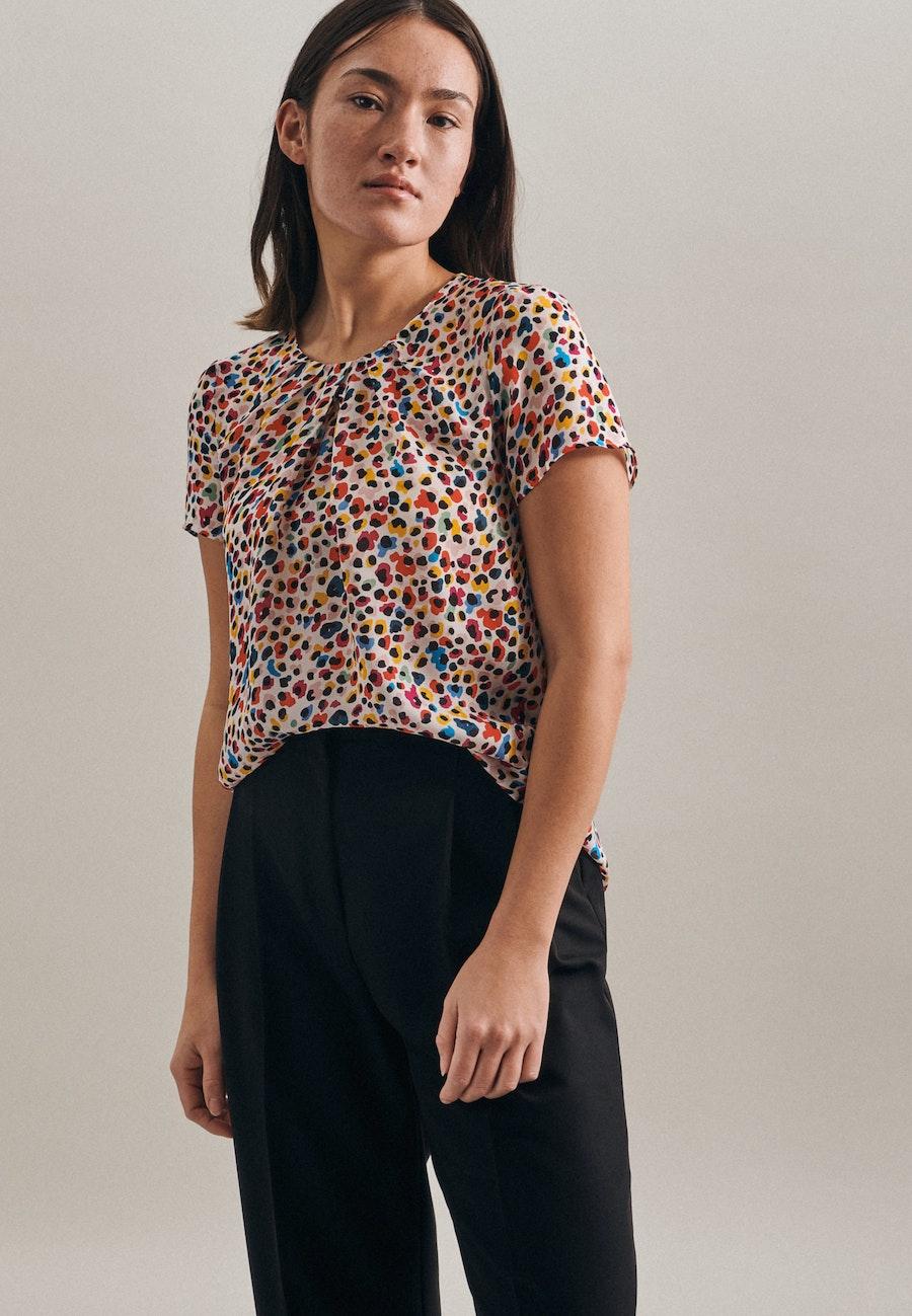 Short sleeve Krepp Shirt Blouse made of 100% Viscose in Ecru |  Seidensticker Onlineshop