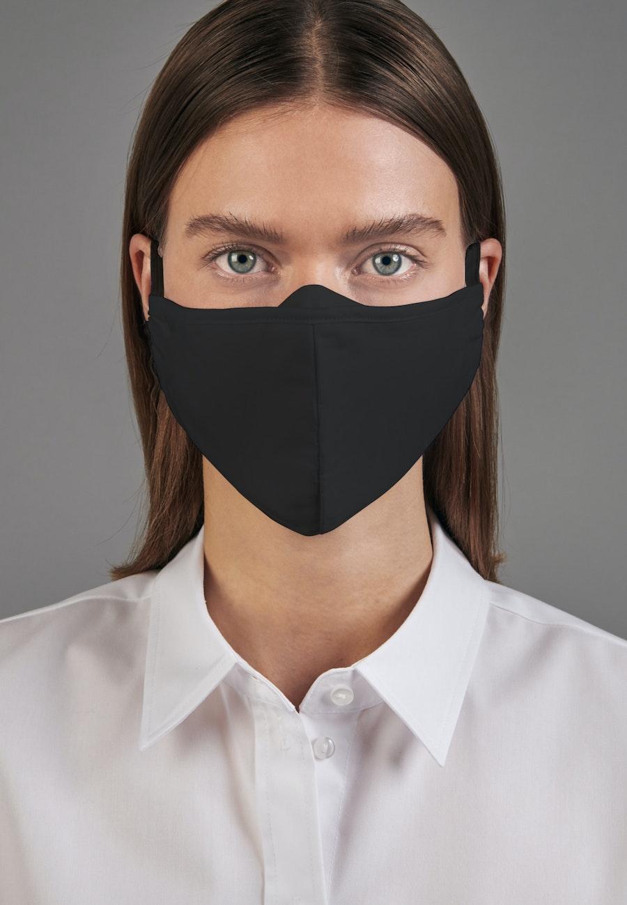 10er-Pack Mund-Nasen-Masken aus 100% Baumwolle in Schwarz    Seidensticker Onlineshop