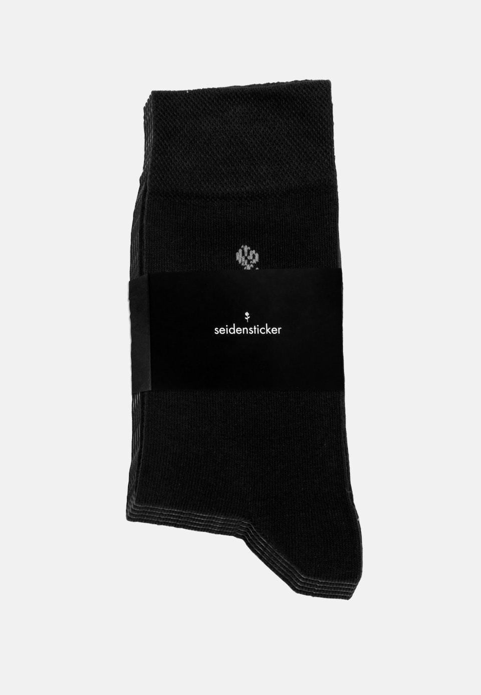 5er-Pack Socken aus Baumwollmischung in Schwarz |  Seidensticker Onlineshop