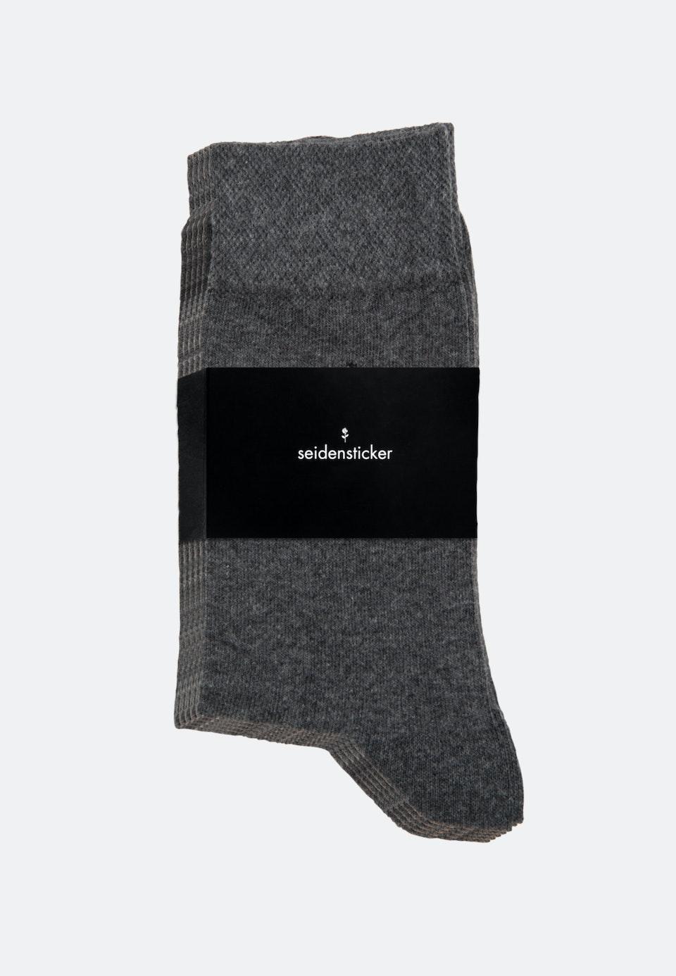 5er-Pack Socken aus Baumwollmischung in Grau |  Seidensticker Onlineshop