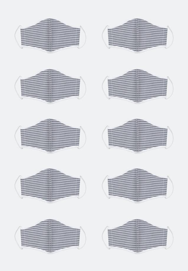 10er-Pack Mund-Nasen-Masken aus 100% Baumwolle in Navy    Seidensticker Onlineshop