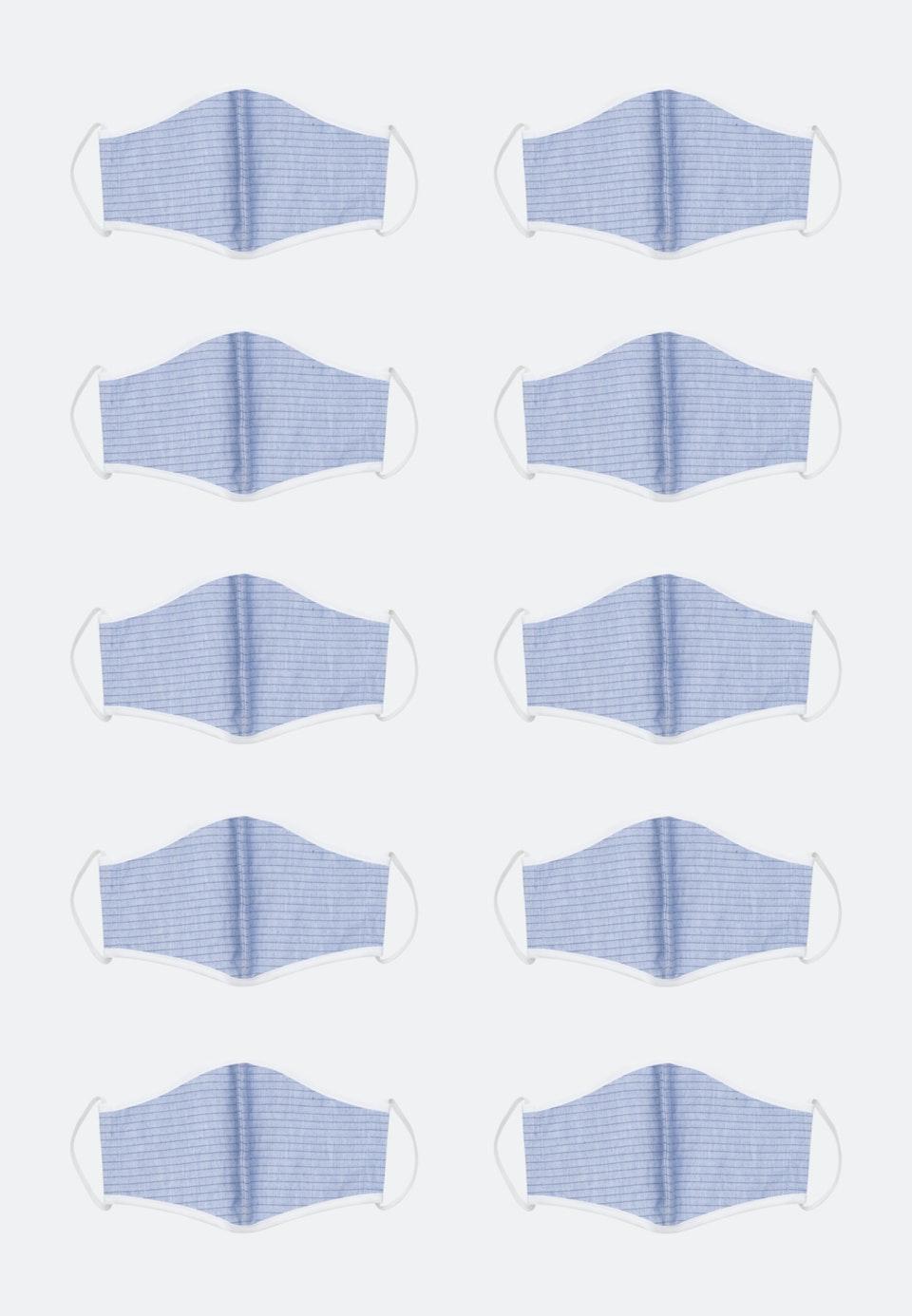10er-Pack Mund-Nasen-Masken aus 100% Baumwolle in Blau |  Seidensticker Onlineshop