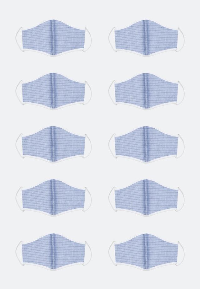 10er-Pack Mund-Nasen-Masken aus 100% Baumwolle in Blau    Seidensticker Onlineshop
