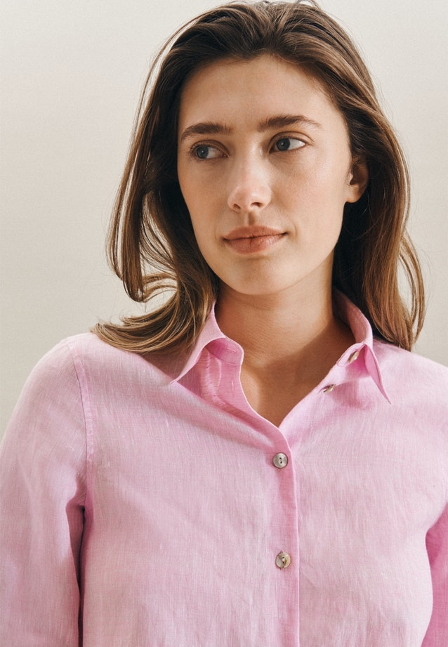 Leinen Shirt Blouse made of 100% Linen in Pink |  Seidensticker Onlineshop