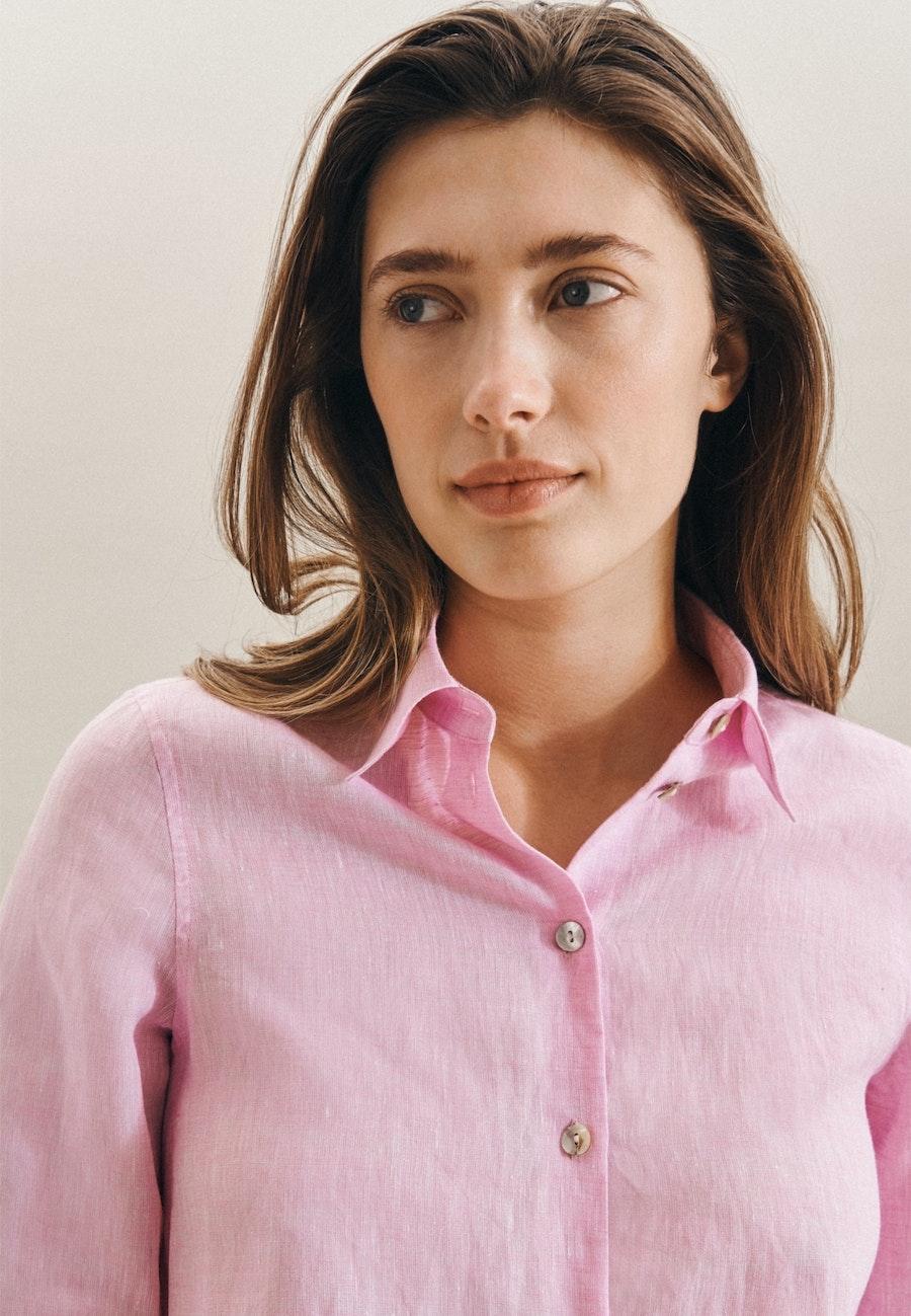 Leinen Shirt Blouse made of 100% Linen in Pink |  Seidensticker Onlineshop
