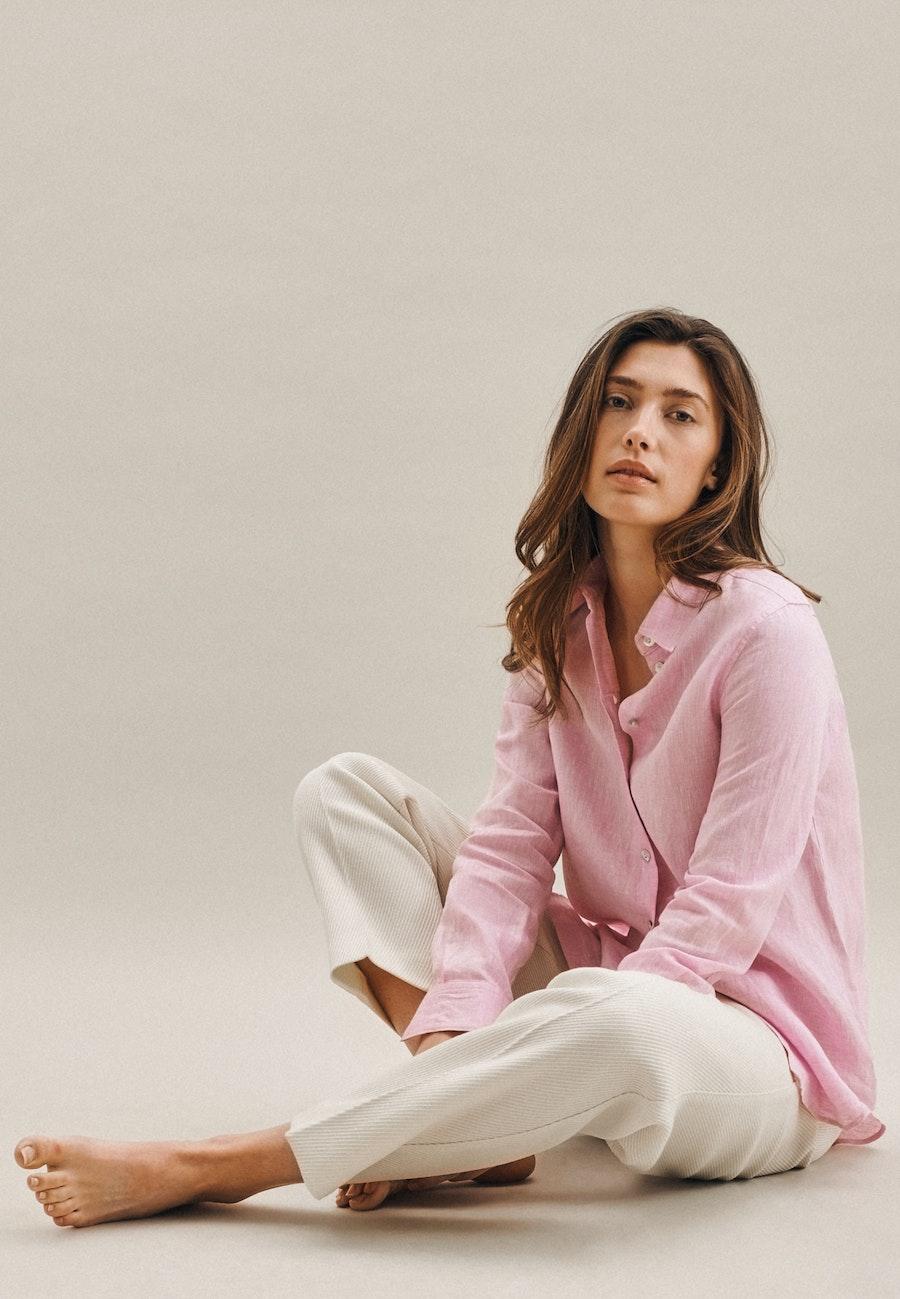 Leinen Hemdbluse aus 100% Leinen in Rosa/Pink |  Seidensticker Onlineshop