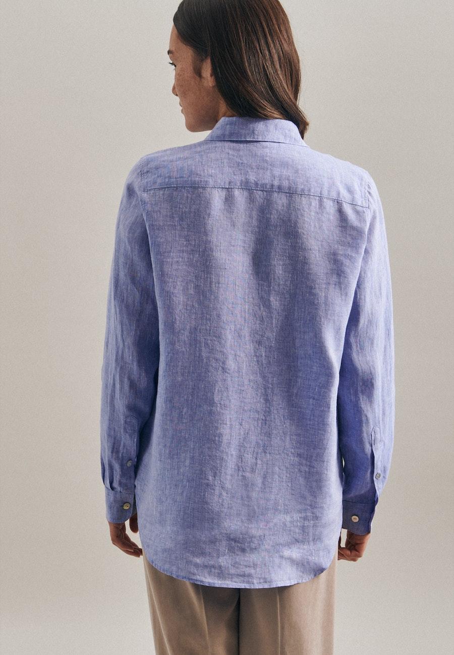 Leinen Hemdbluse aus 100% Leinen in Dunkelblau    Seidensticker Onlineshop