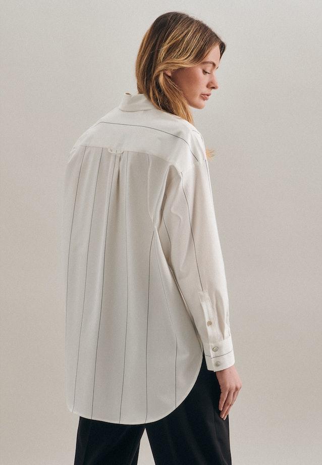 Twill Longbluse aus Baumwollmischung in Ecru |  Seidensticker Onlineshop