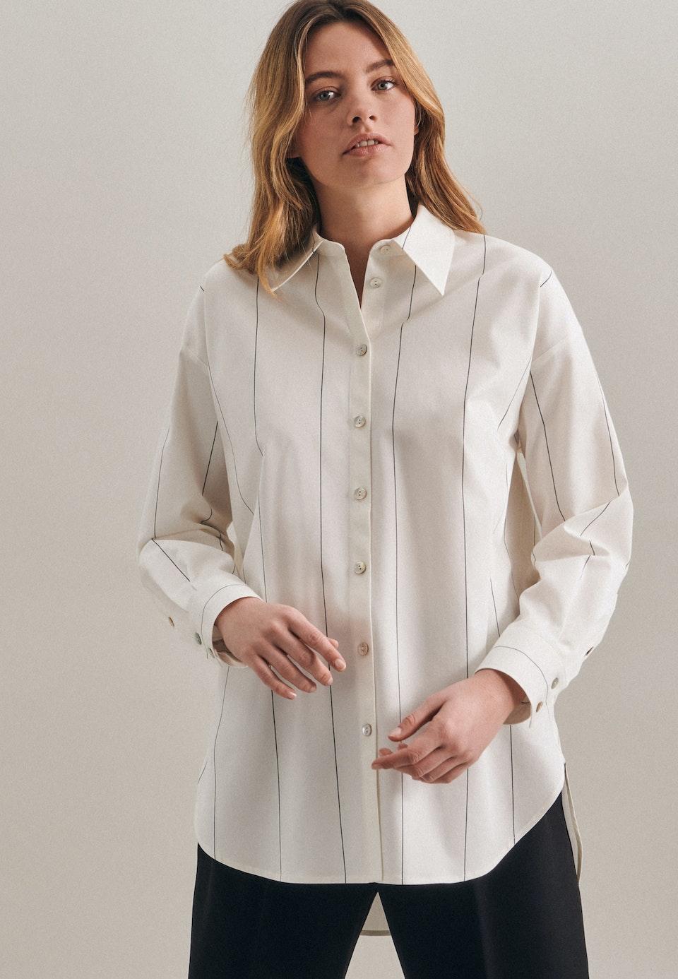 Twill Hemdbluse aus Baumwollmischung in Ecru |  Seidensticker Onlineshop