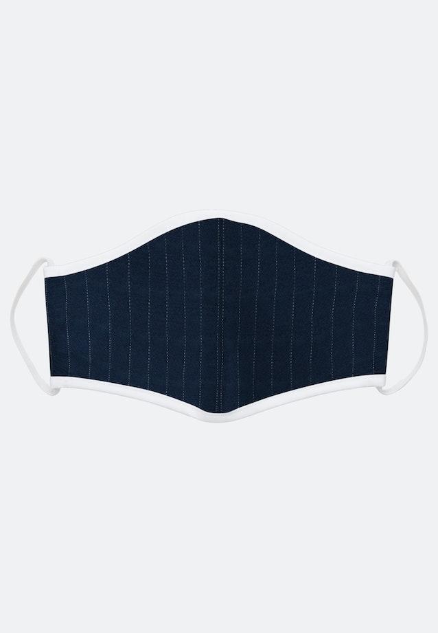 10er-Pack Mund-Nasen-Masken aus 100% Baumwolle in Mittelblau    Seidensticker Onlineshop