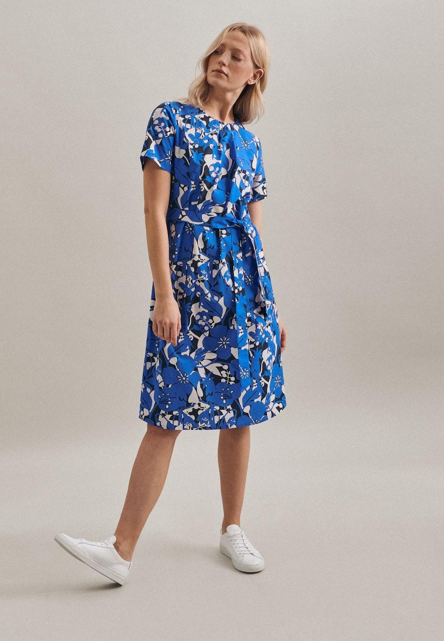 Popeline Midi Dress made of 100% Cotton in Medium blue |  Seidensticker Onlineshop