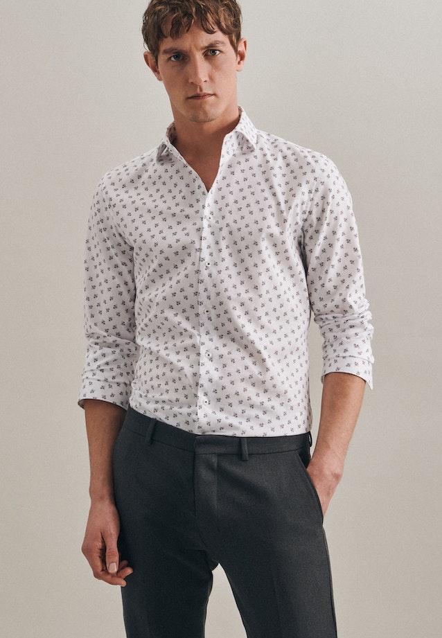 Bügelleichtes Oxford Business Hemd in Slim mit Kentkragen in Weiß    Seidensticker Onlineshop