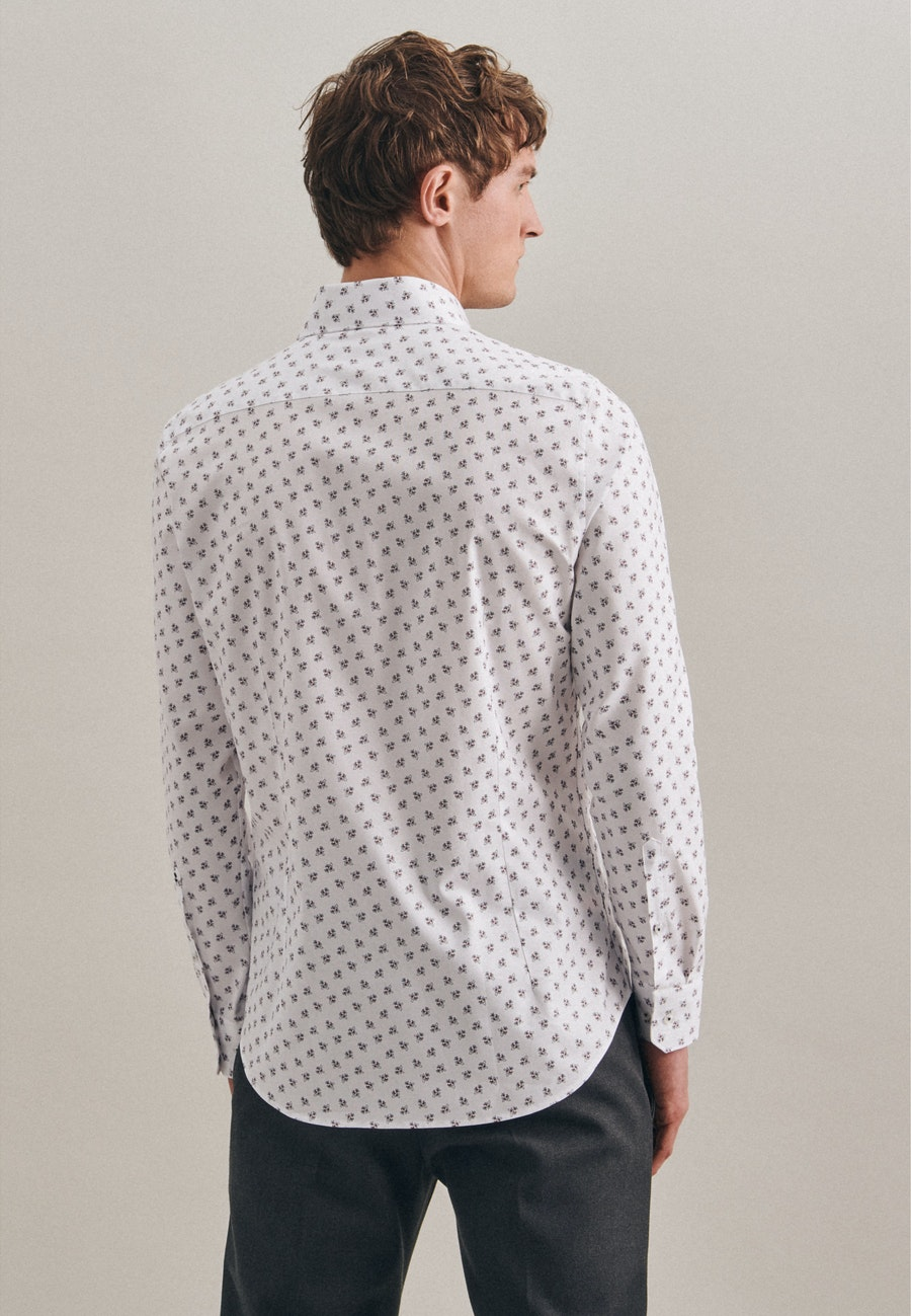 Easy-iron Oxford Business Shirt in Slim with Kent-Collar in White    Seidensticker Onlineshop
