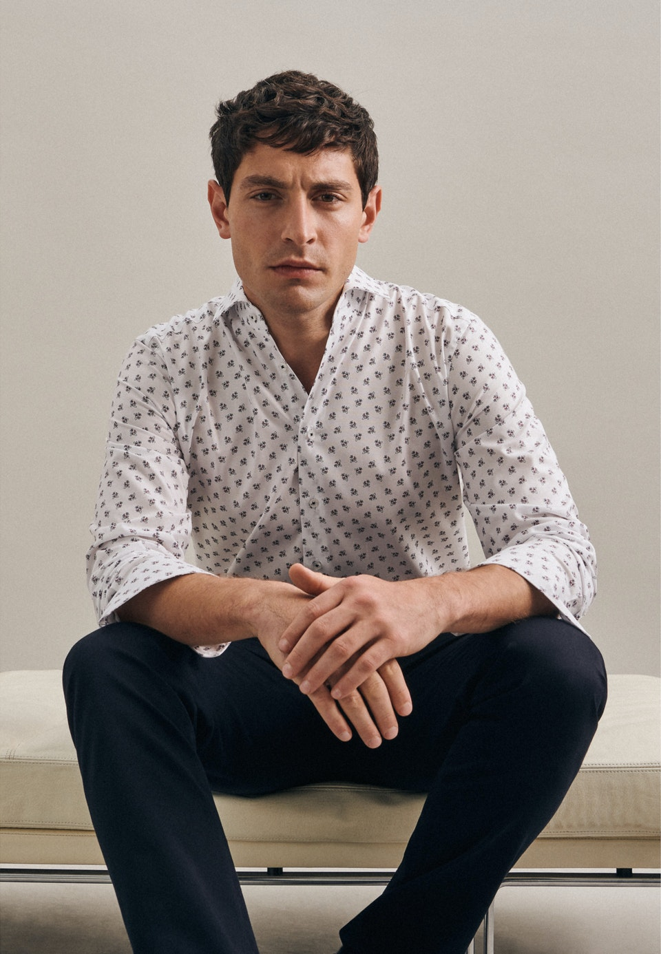 Bügelleichtes Oxford Business Hemd in Regular mit Kentkragen in Weiß |  Seidensticker Onlineshop