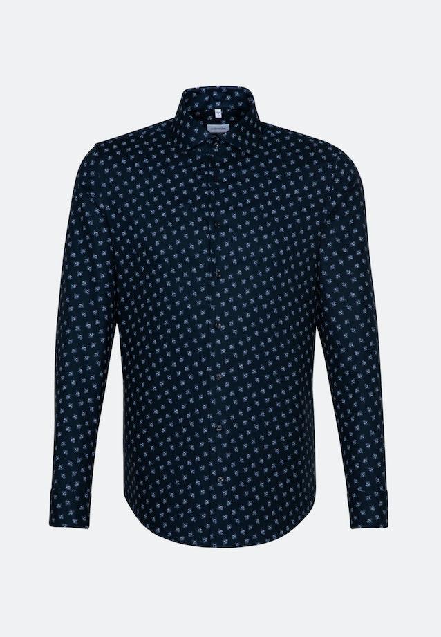 Easy-iron Oxford Business Shirt in Regular with Kent-Collar in Dark blue |  Seidensticker Onlineshop