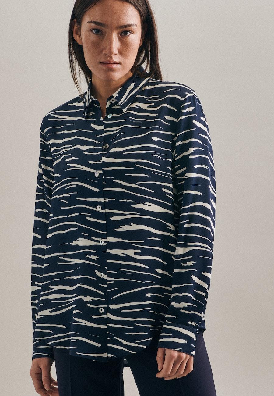 Satin Shirt Blouse made of 100% Viscose in Dark blue |  Seidensticker Onlineshop